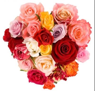 valentines flower heart