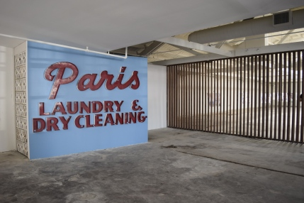 """The original Paris sign is in the foyer of the new """"Modern"""""""